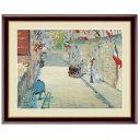 世界の名画 エドゥアール・マネ 旗で飾られたミニエ街 F6 [g4-bm178-F6] インテリア