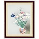 日本の名画 小林古径 菖蒲(しょうぶ) F6 [g4-bn137-F6] インテリア