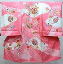 お宮参り産着 正絹 のしめ 女児 着物 高級 絞り 柄刺繍 綸子 新品(株)安田屋 m468143531