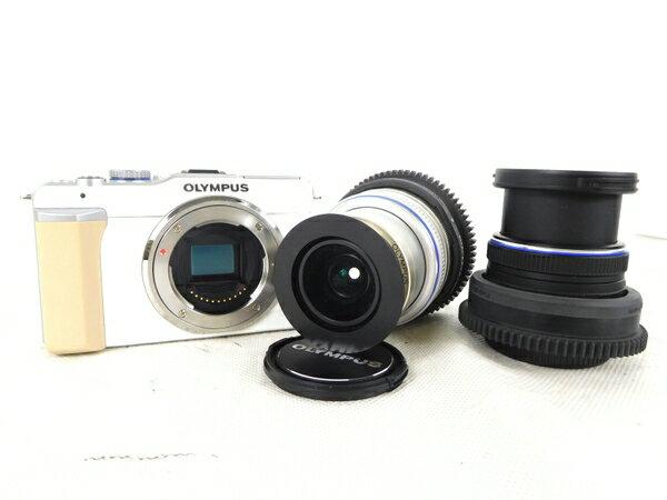 【中古】 OLYMPUS E-PL1 14-42 9-18mm カメラ セット K2156793