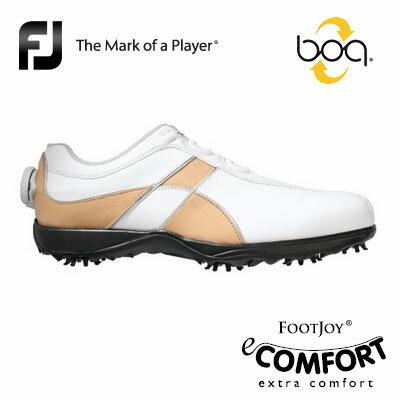 FOOTJOY[フットジョイ] eComfort Boa レディース ゴルフ シューズ 98641 [イーコンフォート ボア] 快適な履き心地とクッション性、そしてデザイン性を備えたシューズ!