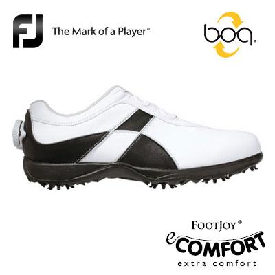 FOOTJOY[フットジョイ] eComfort Boa レディース ゴルフ シューズ 98657 [イーコンフォート ボア] 快適な履き心地とクッション性、そしてデザイン性を備えたシューズ!