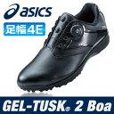asics [アシックス] GEL-TUSK 2 Boa メンズ ゴルフ スパイクレス シューズ TGN921 ブラック