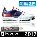 FOOTJOY [フットジョイ] FJ ULTRA FIT Boa メンズ ゴルフシューズ 54145 ホワイト/ネイビー/レッド (W)