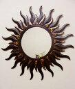 RoomClip商品情報 - アジアン雑貨 バリ (お日様 ミラー Mサイズ) 壁掛けミラー 鏡 エスニック リゾート