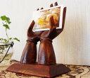 アジアン 雑貨 バリ ♪手の写真立て♪ ※4月下旬発送予定 【10P15Apr14】【P0414】【RCP】 写真立て フォトスタンド メモスタンド カードホルダー 木製【新生活応援】【母の日 早割】