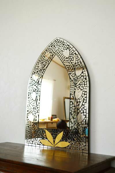 アジアン バリ 雑貨 ♪【11月中旬入荷予定】マーテルミラー(ゴールドB)♪ 【YAYAPAPUS】 アジアン雑貨 壁掛け 鏡 ミラー エスニック