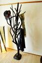 アジアン家具 バリ (ARナチュラル木の様なマルチハンガー) コートハンガー コート掛け 帽子掛け  ...