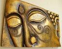 アジアン 雑貨 バリ ♪ブッダレリーフ レッドゴールド♪ 【送料無料】【YAYAPAPUS】 壁飾り オブジェ レリーフ エスニック