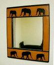 鏡壁掛けミラーアジアン雑貨アジアン雑貨ゾウ木製ゾウのミラーS♪★4/18発送開始予定【母の日2012プレゼントギフト】
