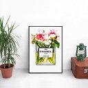 新生活に!!【 Grace cat Art 】サイズが選べるアートポスター + アルミスキニーフレーム額装セット / アート / キャンバス アート / グラフィック アート / インテリア アート / ギフト 【 オマージュモチーフ:CHANEL / シャネル 】