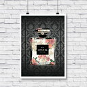 【 Grace cat Art 】サイズが選べるアートポスター / アートパネル / キャンバスパネル アート / グラフィック アート / インテリア アート / ギフト 【 オマージュモチーフ:CHANEL / シャネル 】