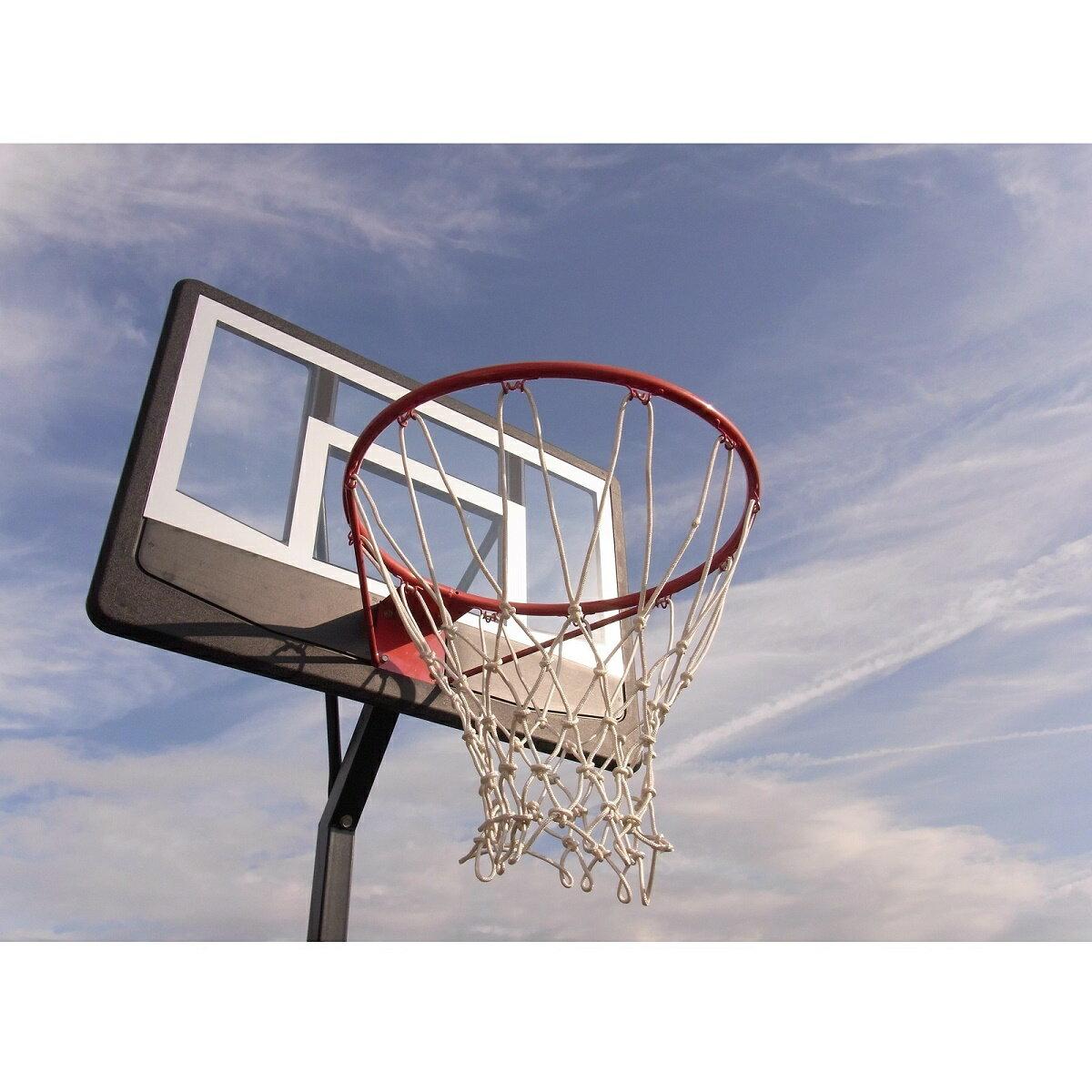 レイアップの練習もOK 【送料無料】 透明ポリカーボネート、オレンジリング、極太ネット バスケットゴール BG-270BK