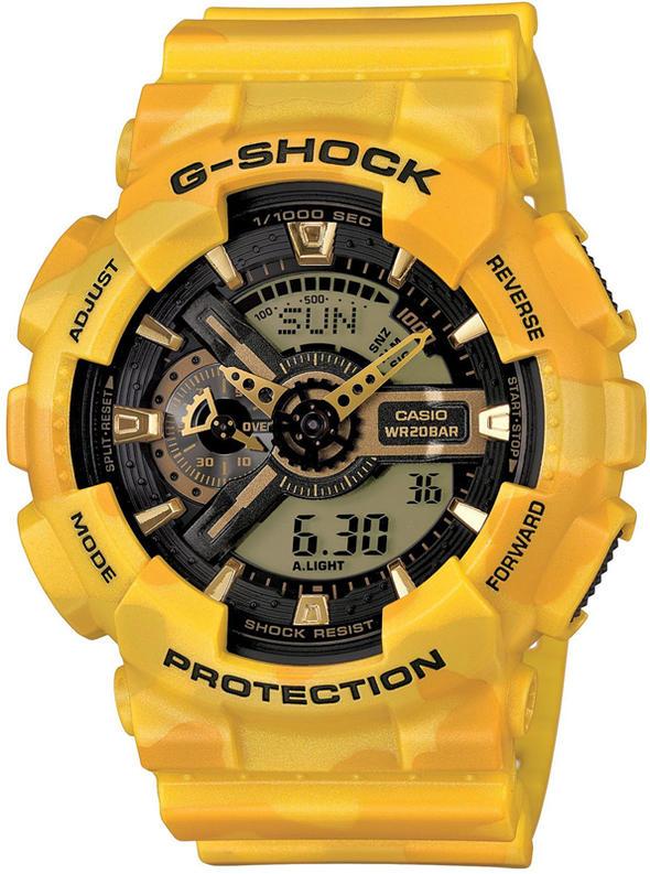 """""""【G-SHOCK】 (ジーショック) GA-110CM-9AJF カシオCASIO/Gショック""""/腕時計 WATCH/ipod iponeアイホンアイフォンアイポッド/サーフ サーフィン サーファー SURFIN SURF SURFER 便利/ウェア WEAR アパレル 『送料無料』『カモフラージュ』"""