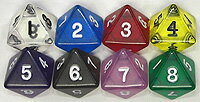 8 clear dice countenance green tract of land engraved letters fs3gm