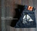 【kura/ETERNAL】75393 BONSAI DENIM 盆栽刺繍 オリジナルセルビッチ テーパードスキニー 5ポケットデニムパンツ ワンウォッシュ 岡...