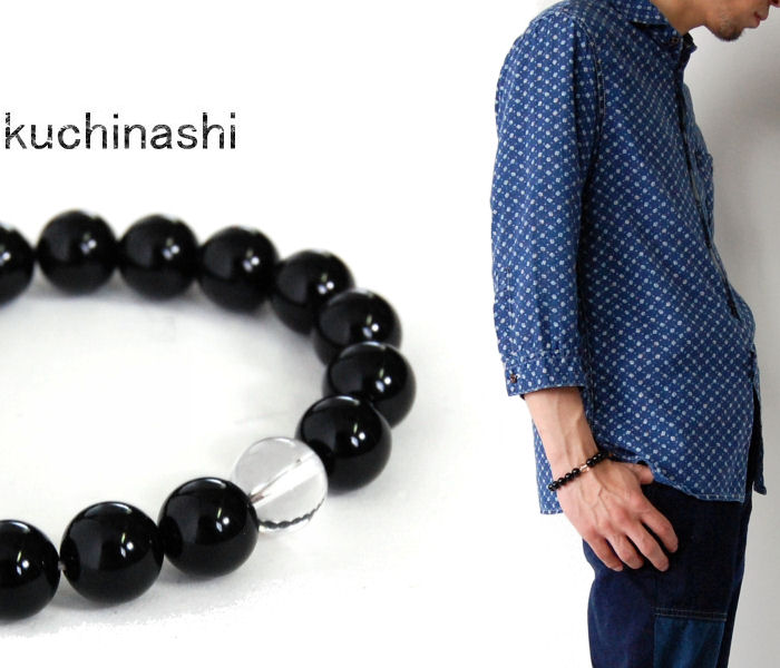 【朽ちなし】ブラックオニキス 天然石 数珠ブレスレット 8mm/10mm