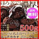 【ポイント10倍中】おからクッキー リッチカカオ500g カカオ分22%配合でほろ苦い!大