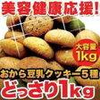 【ポイント2倍】訳あり 豆乳 おからクッキー ソフトタイプ 1kg ダイエットクッキー 豆乳クッキーP01Jul16