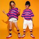 キッズダンス衣装 子供服 男の子 女の子 ヒップホップ HIPHOP 半袖トップス ショートパンツ 2点セット セットアップ 子供衣装 子供ダンス 練習着 応援団 発表会