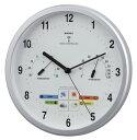 ウェザーパル電波時計(温度・湿度・天気予報計付) 26.5cm BW-878