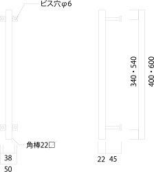杉山製作所FITアイアンワークムクドアハンドルA片面タイプ400MUK-1453-S400SBサンドブラック塗装タイプ高さ400mm日本製メーカー直送のため代引不可