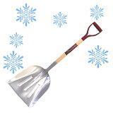 【頑張って送料無料!】アルミ 炭スコップ 大炭スコよりも一回り大きくて雪かきをたくさんできます!軽くてガンガンやっても大丈夫!除雪用品の決定版!