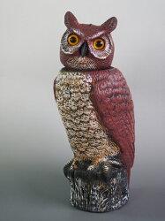 【レビューを書いて送料無料!】鳥追い首振りフクロウ44cm驚異な目玉で威嚇!本物そっくりでどんな鳥もびっくり!