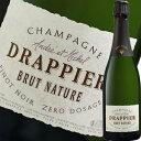 ドラピエ・ブリュット・ナチュール・ピノ・ノワール・ゼロ・ドサージュ NV| シャンパン スパークリング ワイン 誕生日プレゼント 女性 結婚祝い 60代 スパークリングワイン 還暦祝い 内祝い お酒 ギフト 結婚記念日 フランス わいん