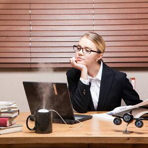 【送料無料】FOGRINGフォグリングホワイト3900WHポータブル加湿器卓上オフィスタンクレスコンパクトUSBミスト潤う清潔携帯小型リング超音波式パーソナル加湿器