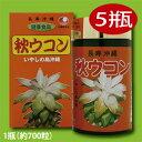 【送料無料】 沖縄産 秋ウコン粒 5瓶(1瓶約700粒)