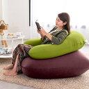 Relax Combo(Yogibo Mini ディープパープル & Yogibo Support ライムグリーン) [分納の場合あり] / クッション ソファ ビーズクッション ビーズソファ 快適すぎて動けなくなる魔法のソファ