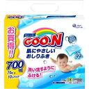 【送料無料】大王製紙 グーン 肌にやさしいおしりふき つめかえ用(70枚×10コ入)
