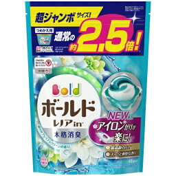 P&G <strong>ボールド</strong> <strong>レノア</strong>in 洗濯洗剤 ジェルボール3D 爽やかプレミアムクリーンの香り 詰替用 超ジャンボ(44個入)