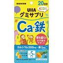 【×6個セット送料無料】味覚糖 グミサプリKIDS カルシウム・鉄 20日分 成長期のお子様の栄養補助に ビタミンD 鉄 4902750696778