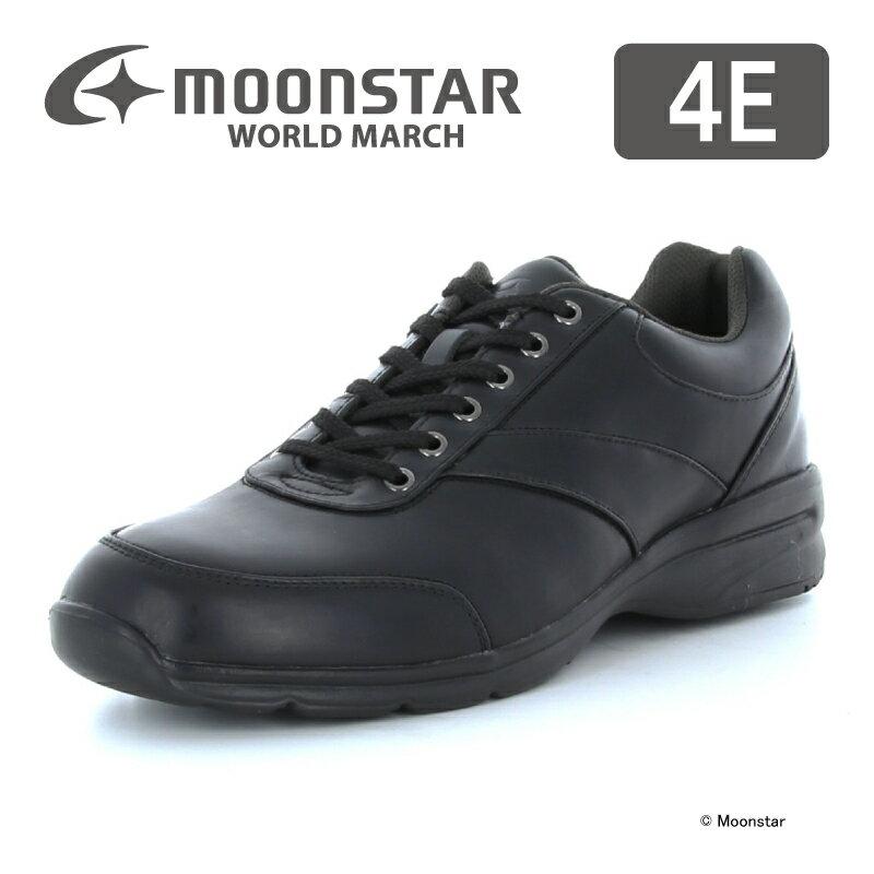 【送料無料】【ムーンスター】【紳士靴】【ウォーキングシューズ】ワールドマーチ WM3016SP ブラック