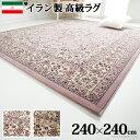 【送料無料】イラン製 ウィルトン織りラグ アルバーン 240x240cm ラグ カーペット じゅうたん【代引き決済不可】