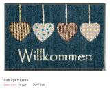 Cottage Hearts 【A012A】 50×75cm (1枚) クリーンテックス wash+dry (丸洗い 吸水マット エントランス ウェルカムマット 滑り止め ラバーマット 防炎 屋内 屋外 薄型 KLEEN-TEX ウォッシュアンドドライ)