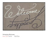 Swinging Welcome 【A015A】 50×75cm (1枚) クリーンテックス wash+dry (丸洗い 吸水マット エントランス ウェルカムマット 滑り止め ラバーマット 防炎 屋内 屋外 薄型 KLEEN-TEX ウォッシュアンドドライ)