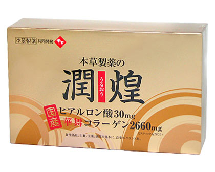 Jun-Tun-Huang (うるおう) hyaluronic acid and Mai Wah collagen 2 g × 60 stick