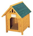 【送料無料】只今ポイント2倍!(1/15 9:59迄)天然木使用の本格木製犬舎!ドッグハウス カナディ... ...