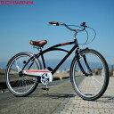 "SCHWINN 2020 シュウィン""BAYWOOD"" ブラック 26インチ ビーチクルーザー 自転車"
