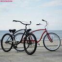 "SCHWINN 2021 シュウィン""S1 CRUISER"" メンズ 2色バリ 26インチ ビーチクルーザー 自転車"