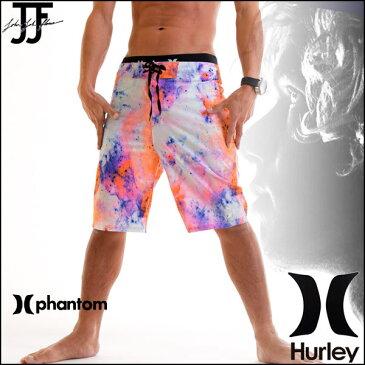 HURLEY ハーレー サーフパンツ メンズ 水着 トランクス 海パン PHANTOM JJF3 NEBULA 20インチ ジョンジョンモデル ピンク柄