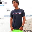 Hurley ハーレー メンズ 半袖 ラッシュガード Tシャツ UPF 50 ロゴ RASH CREW NECK O O CHEERS