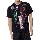 ラフシモンズ (RAF SIMONS) Tシャツ with abstract embroidery ブラック 105b1900000099 ...