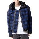 ハイダーアッカーマン (Haider Ackermann) チェックジャケット ブルーブラック174302411850 2017AW メンズ秋冬 送料無料 正規取扱