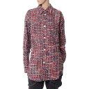 フェイスコネクション (Faith Connexion) ビジューボタンツイードチェックシャツ ツィード レッドx1819t00022r978 レディース秋冬 3,980円以上購入で送料無料 正規取扱