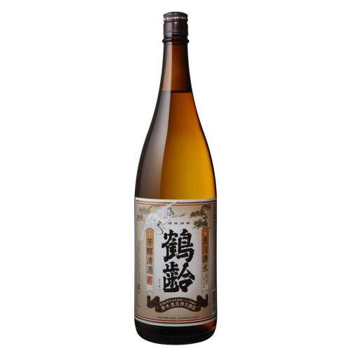 鶴齢芳醇清酒1800ml宅配用の破損防止箱代は無料です。普通酒青木酒造[還暦祝い鶴齢日本酒ご贈答記念