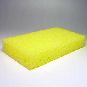 イエロー洗車用スポンジ♪厚過ぎず薄過ぎず、手にジャストフィットするサイズ♪洗車/カーケア用…...:yokohamamazai:10000039